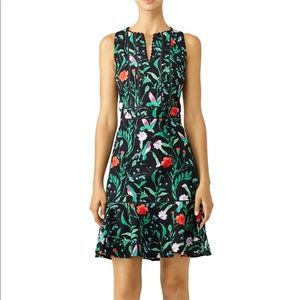 Kate Spade Hummingbird Jardin Tile Jacquard Dress